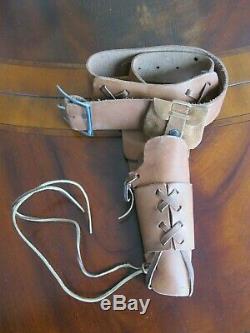 Mattel Shootin' Shell Frontier Single Holster Cap Gun Set Original Box Excellent