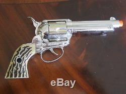 Mattel Shootin' Shell Frontier Single Holster Cap Gun Set withBox Excel Condition
