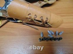 Mattel Shootin' Shell Frontier single Holster Cap Gun Set Original Exceptional