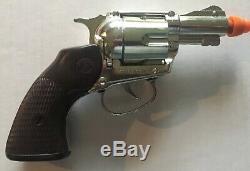 Mattel Snub Nose 38 Detective Cap Gun, 6 Shootin Shell Bullets, Wallet, Badge +