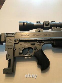 Mattel Tommy Burst Zero M 1960's Cap Gun. About 27.5 inches long. Works SCOPE