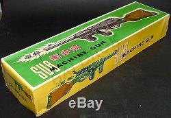 Me 601 Sub Machine Gun Battery Op. Red China Vintage'60 Mintin Box Toy