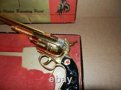 NEW HUBLEY COWBOY CLASSIC 1955 No 276 GOLD PLATED REPEATING CAP GUN NICE