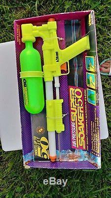 NIB Vintage 1990 LARAMI SUPER SOAKER 50 Water Squirt Toy Gun RARE Collectible