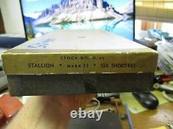 NICHOLS Stallion 45 Mark 2 Jacksonville Texas toy IN ORIGINAL BOX CAP GUN