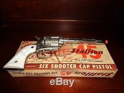 Nichols 45 Stallion Pasadena Vintage Toy Cap Gun & Original Box, 1950