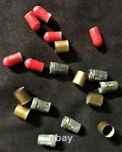 Nichols Cap Gun (6) Total 3-piece Bullets All Orginal