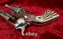 Nichols Cap Gun Vintage 1958 Stallion 41- 40 RARE 6 original 2-piece cartridges