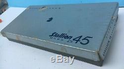 Nichols STALLION 45 MARK II REVOLVER Cap Gun MIB withextra Grips & Bullet Pack