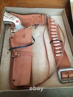 Nichols Silver Mustang With Original Box Rare Cap Gun
