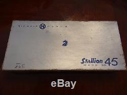 Nichols Stallion 45 Mark II Six Shooter Cap Gun, 6 bullets, clip, extra grips, box