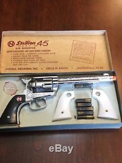 Nichols Stallion Mark II 45 Toy Cap Gun With Box & Accesories