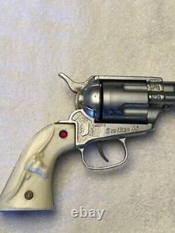 Nichols Stallion Pasadena 45 Cap Gun & (3) Aluminum Bullets