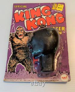 OFFICIAL KING KONG WATER GUN Toy RKO AHI 1970's Sealed Unopened Package Vintage