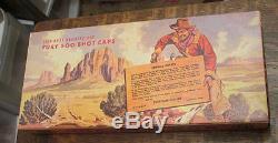 Old Vintage Toy Western Nichols Mustang 500 Cap Gun Blue Steel Series Mib Box