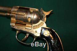 Pair 1950s GOLD Hubley Cowboy Cap Guns