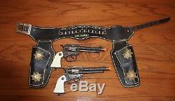 Rare Black Lone Ranger Cap Gun & Holster Set