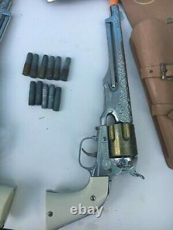 RARE Hubley COLT. 45 DOUBLE Cap Gun HOLSTER RIG