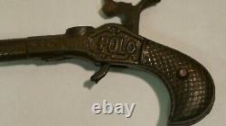 RARE Ives Cast Iron POLO Cap Gun 1878