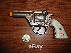 RARE! Kenton Gene Autry Nickel Plated Dummy Cast Iron Toy Cap Gun 1940 A