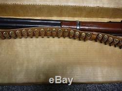RARE MATTEL WINCHESTER SADDLE GUN With 32 BULLET BANDOLIER WithORIG. BOX #592