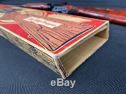 RARE Marx The Lone Ranger Repeating Steel Shotgun Toy Gun Smoking Barrel WithBox