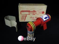 RARE NMIB VINTAGE 1940's AUSTIN MAGIC CRYSTAL PISTOL SPACE TIN GUN ORIG. BOX