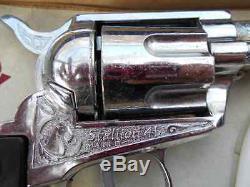 RARE Nichols Ranch STALLION 45 MARK II Six Shooter TOY CAP GUN with Box & Access