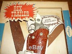 RARE Rex Trailer Boomtown Hubley Cap Gun PROTOTYPE in box with Holster