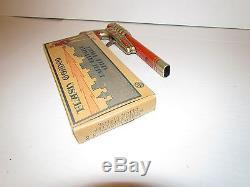 RARE VINTAGE 1930's FLASH GORDON RAY GUN TIN LITHO CLICKER MINT WITH BOX