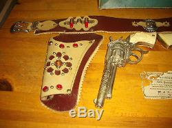 Rare Vintage Roy Rogers Double R Ranch Dual Cap Gun And Holster Set With Box