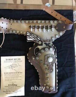 RARE Vtg Hubley Toy Gun and Holster Set No 6061 WithOrig Box 1960's Marshal
