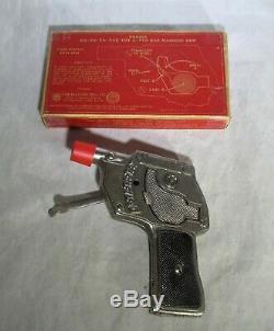 RARE WORKING 1930's KILGORE RA-TA-TA-TAT MACHINE GUN CAP GUN with ORIGINAL BOX