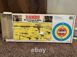 Rambo M-24 Machine Gun Dart with Rifle Arco Vintage Toy RARE Incomplete