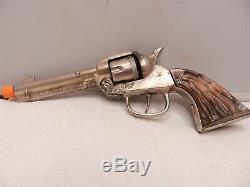 Rare 1940 Cast Iron Kilgore Big Horn Cap Gun WORKS PERFECT