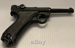 Rare 1940s-50s Vintage Lytle Co. GERMAN LUGER Cast Aluminum Pistol Replica Gun