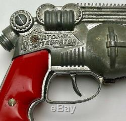 Rare 1950s Hubley Atomic Disintegrator Toy Space Gun Works a treat
