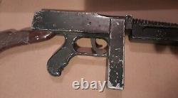Rare 1950s Network News Syndicate Dick Tracy Tommy Machine Gun Complete Working