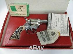 Rare 1958 Mattel Fanner Cap Gun In Original Box With Shells Cap Pistol Die Cast