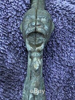 Rare Antique Vintage 1887 Ives Cast Iron Black Americana Nigga Head Toy Cap Gun