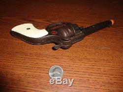 Rare Hubley Cowboy Checkered Colt Grips Cast Iron Dummy Toy Cap Gun D