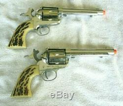 Rare Mattel Shootin' Shell. 45 Vigilante Double Holster Cap Gun Set Excellent+++