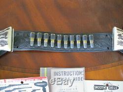 Rare Mattel Shootin' Shell. 45 Vigilante Double Holster Cap Gun Set Very Nice