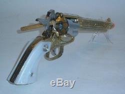 Rare Nichols G-45 Stallion Mark II Gold Plated Cap Gun Unfired, Vintage 1959