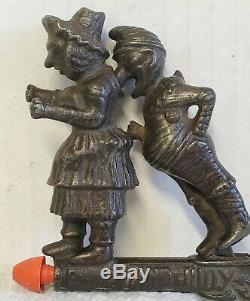 Rare Original 1882 Ives Cap Gun Working Animated Punch & Judy Cast Iron