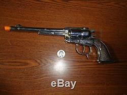 Rare Schmidt Pathfinder/Buckin' Bronc Diecast Auto Cap Gun c. 1950 N