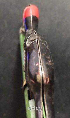 Rare Tin Litho Whoopee Bird Toy Cap Gun vintage