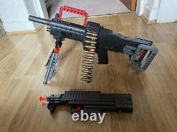 Rare Vintage 1980s M-60 Rambo Toy Machine Gun Rifle By Arco. Target Game Set