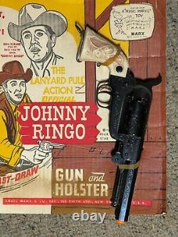 Rare Vintage Johnny Ring Gun Set On Card Strangest Fastest Gun In The West