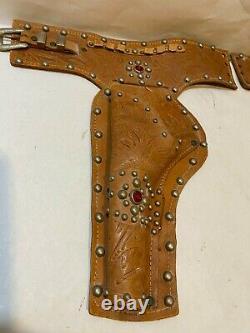 Rare Vintage Western Nichols Stallion 45 Double Gun And Holster Set